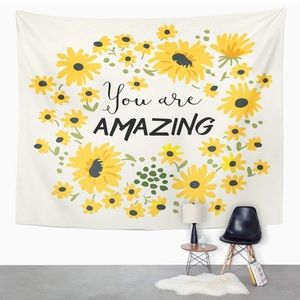 Tapestry White You are Amazing Wild Daisy Flower